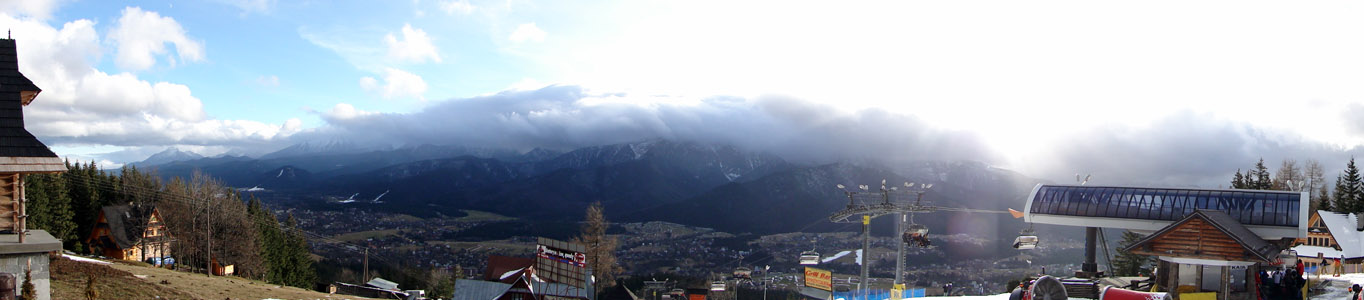 Zakopane - Tatra Mountains under clouds for Christmas 2009