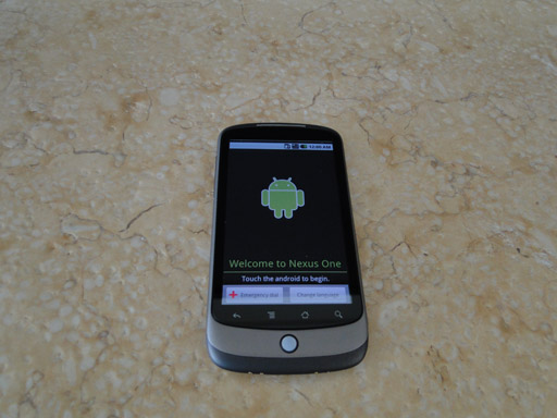 Android Nexus One, booting for the first time
